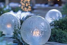 Outdoor Holiday Decorating Ideas / 'Tis the season! Take a look at some of these lovely holiday-themed decor ideas to complement your landscaping and add a little holiday flavor to your outdoor space.