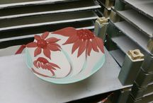 Pottery Flower Bowls