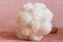 Menyasszonyi csokor (Világos, halvány színek)