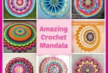 Crocheted and Overlay Mandalas