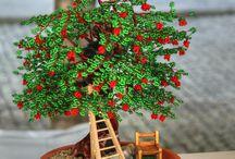 alberello bonsai con perline