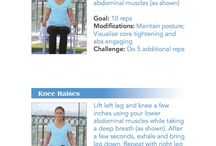 MS Exercises / A board that has exercises that are designed for patients with Multiple Sclerosis.