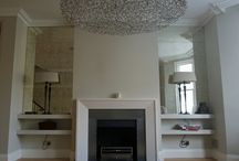 Living Spaces / Mirrorworks projects with antique mirror glass