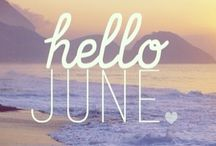 Hello, June / June birthdays and wedddings and celebrations in June's color and birthstones - pearls, lilacs, lavender and light amethyst