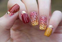 Autumn nail art - Uñas para otoño / Autumn nail art - Uñas para otoño