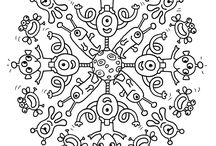 Mandalas and colouring pages / Mandalas and colouring pages for various ocasions