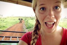 Elephant photobombs Christine / Uganda