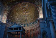 parietal ancient mosaics / mosaics churches