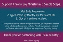 Partner with Chronic Joy / Ways to link arms and hearts with the important work of Chronic Joy Ministry.