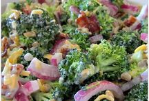 Broccoli + Salad / Broccoli salad recipes.