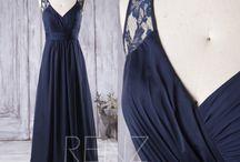 Navy Wedding Dress