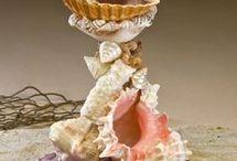 tempat lilin dari seashell