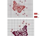 Point de croix - Papillons