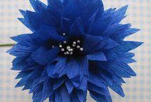Cornflower crepe paper - Albastrele hartie creponata