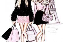 модные fashion иллюстрации