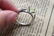 Storybook fairy tale engagement and wedding rings