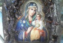 Icoane - Maica Domnului- Mantuitorul Iisus Hristos