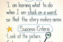 Success criteria for kindergarten