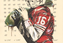 Sports Paintings / Ilustrations / Stealing Signs is an ongoing online art exhibition celebrating the untold stories of professional athletes from past to present.  Beyond statistics, themes of personal struggle commonly appear in the paintings in an attempt to recognize the sacrifices these players made for their beloved game as well as their personal lives away from the playing field.