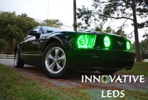 FORD MUSTANG COLORNOVA RGB HALOS / ColorNova halos from Innovative LEDs on Ford Mustangs! Please visit our website to see how we can help you upgrade your ride!