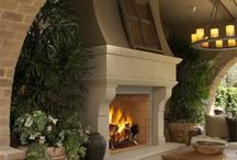 On Fire / Beautiful fireplaces indoors and out.