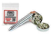 Tobacco Grinder Shooter Six 6 Revolver Pipe Chambers Herb Pistol Smoking Tool / Easy To Disassemble & Clean With 6 Revolving Chambers, shipped with a pack of 50 formax420 screen Shipped and sold by FORMAX INC is the authentic item,we have anti-counterfeiting code     height: 157 weight: 40 length: 512