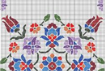 point croix, fleurs