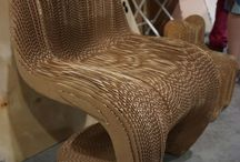 Cardboard furniture, 3d printed