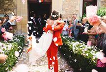 Vive les mariés ! / wedding exit, confetti