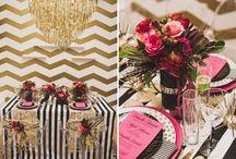 WEDDINGS: METALLICS / Metallic inspiration for parties, weddings & home.