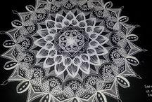 tek renk mandala çalışmalarım / siyah beyaz şifalanması