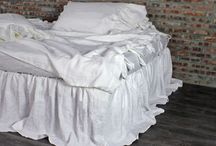 Linen Bed Skirts & Dust Ruffles / Bed Skirts and Dust Ruffles made from French Flax Linen.