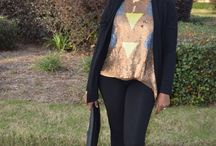 Casual glam: sequins and leopard! /  A girl just has to have her sequins at Christmas! For a casual holiday lunch, I paired this very pretty sequin blouse with tights, a sweater, black clutch and these amazing leopard print brogues! http://adakwube.com/blogs/blog/18511459-casual-glam-sequins-and-leopard