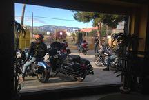 Rodaje de Pin Up-Motos & Rock en el Mediterraneo