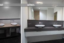 Home staging et Rénovation de Salle de bains / Découvrez nos réalisations sur mesure de salle de bains lors de Rénovations ou de Home Staging.