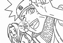 Anime&Manga coloring pages / Cool anime and manga coloring pages, anime and manga coloring pages for girls