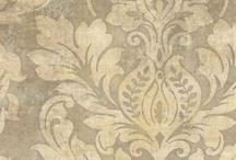 Wall paper damask