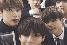 BANGTAN BOYS . . / BANGTAN BOYS . BTS . Kim Namjoon . Kim Seokjin . Min Yoongi . Jung Hoseok . Park Jimin . Kim Taehyung . Jeon Jungkook . RapMonster . Jin . Suga . J-hope . V