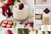 Weddings - Marsala (dark earthy wine red) / The new wedding color for 2015 is Marsala chosen by Pantone.