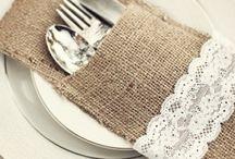 Cutlery, napkin and name tag ideas