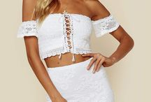 BRIDAL BABE / For the months leading up to your special day, you'll be wearing a lot of white. Be a babe in these sexy white pieces perfect for your bridal shower, rehearsal dinner, or even your beach wedding!