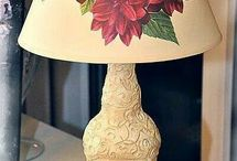 lampy decoupage
