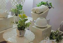 Bomboniere  in porcellana  bianca Hervit
