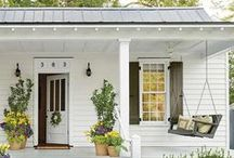 HOME DECOR   Front Door, Foyer & Home Exterior / Front porches, seasonal decor, and pretty homes