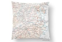 ~ Pillows ~ State maps