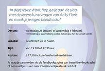 Workshop de Toverkracht van een Beeldhaiku / In deze leuke Workshop ga je aan de slag met de levenskunstvragen van Anky Floris en maak je je eigen beeldhaiku.