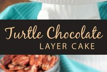 Turtle choc cake