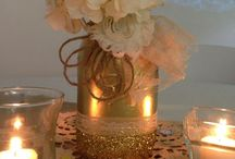 Mason Jars Center Pieces