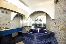 BEAUTIFUL BATHROOMS & POWDER ROOMS / Indulgence is taking a long, hot bath with a nice book