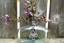 Wire wrapped vase